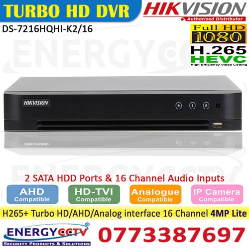 DS-7216HQHI-K2-16- DS-7216HQHI-K2-16 hikvision h265 dvr sale in sri lanka