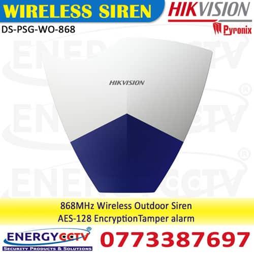 DS-PSG-WO-868 wireless outdoor siren sri lanka hikvision