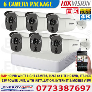 2MP-HD-PIR-WHITE-LIGHT-6-CAMERA-PKG-with-4K-lite-DVR best price in sri lanka