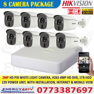2MP-HD-PIR-WHITE-LIGHT-8-CAMERA-PKG Outdoor PIR Security Camera, 1080P Colorful ,Night Vision CCTV Camera, Motion Detection, white Light Alarm