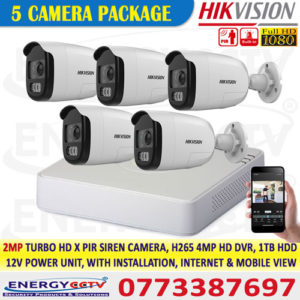 hikvision 2mp PIRXF motion active sensor cctv camera sale in sri lanka best cctv package