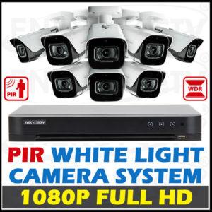 Hikvision PIR detection, White Light Alarm Camera Package
