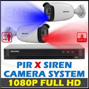 Turbo HD X PIR Motion Siren Alarm Camera Package