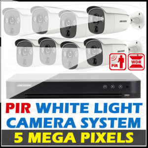 Hikvision 5 MP Motion Activated PIR Strobe Light CCTV Package
