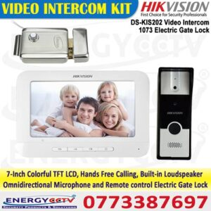 hikvision DS-KIS202 video door phone with 1073 electric lock